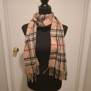 Charter club cashmere scarf Burberry lookalike